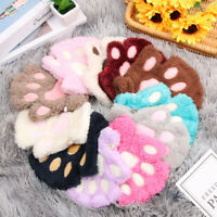 Fashion Winter Warm Plush Warm Children Gloves Cat Paw Fingerless Mittens