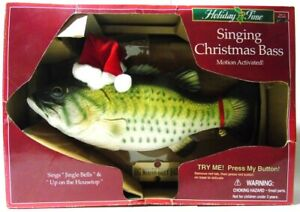 VINTAGE SINGING CHRISTMAS BILLY BIG MOUTH BASS MOTION ACTIVATED HOLIDAY FISH