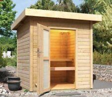 Saunahaus Lenja 40 Sauna 2x2m Gartenhaus 2 Liegen, gratis Dichtungsbahn Wolff