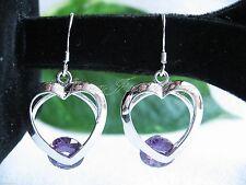 Hook Treated Stone Sterling Silver Fine Earrings