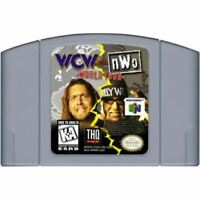 WCW vs. NWO: World Tour Nintendo 64 N64 Authentic Game Cartridge *CLEAN VG