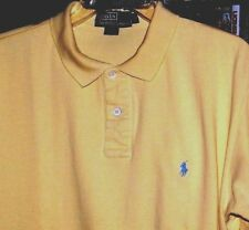 Men's Polo Ralph Lauren*Rugby Polo*Short Sleeve* Yellow * XL *Preowned