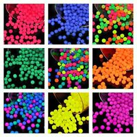 CHOOSE COLOR! 100pcs 4mm NEON Round Beads (UV-Active) Czech Pressed Glass