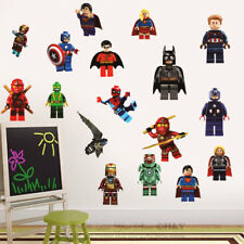 Lego Characters Marvel Boys Wall Stickers Vinyl Decal Removable Kid Decor Mural