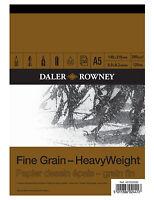 A5 DALER ROWNEY FINE GRAIN HEAVYWEIGHT CARTRIDGE PAD 200gsm ARTIST SKETCH PAPER