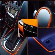 5M Car DIY Interior Orange Edge Gap Lines Point Mouldings Trim Garnish Accessory