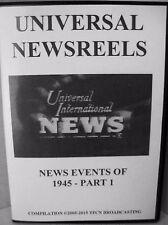 UNIVERSAL NEWSREELS 1945 - PART 1 (DVD)