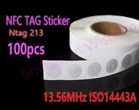 100pcs NFC Stickers Ntag213  RFID Tag 13.56MHz ISO14443A