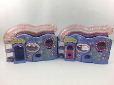 "Lot of 2 Littlest Pet Shop Little Pet Lovin' Playhouses 2004 HASBRO 15"" purple"