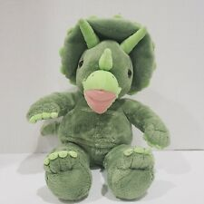 "Build A Bear 18"" Triceratops Green Dinosaur Plush Soft Toy Stuffed Animal"
