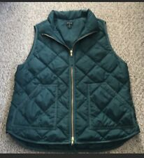 J. Crew Green Quilted Puffer Vest Xl Woman's