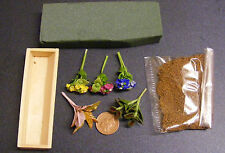 1:12 DIY Flower Box Kit Dolls House Miniature Garden Accessory Hydrangea B