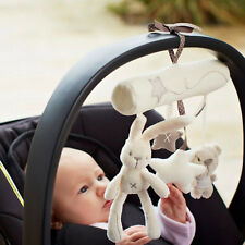 Musical Plush Crib Stroller Baby Pram Soft Rattle Hanging Rabbit Star Toy Animal