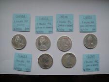 CANADA 6 monete da 1 Dollaro Argento 1976-1982 perfette
