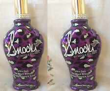 Lot 2 Snooki Ultra Dark 70X Black Bronzer Skin Firming Tanning Bed Lotion