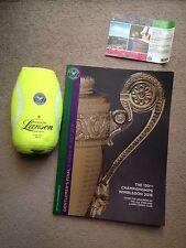 Murray-Raonic Final 2016 Wimbledon Programme-ground Ticket & Champagne Cooler