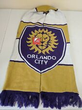 Adidas Orlando City MLS Soccer Scarf Yellow Purple Fringe