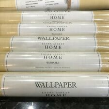 Laura Ashley Vintage Wallpaper Colourwash Str.Gold x5 New/Sealed Washable