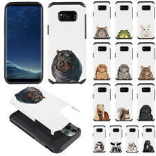For Samsung Galaxy S8 G950 Animal Design Fusion Hybrid Silicone Case Cover