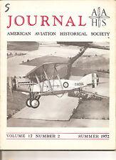 Journal AAHS Sum 1972 - Bristol F2B - Ca Giulio Cesare - Italian Martin 187