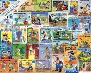 Packet of 300 all different Desney stamps (2019/10/30#14)