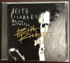 Keith Richards Main Offender CD Signed Autographed