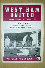 1964/65 League Division One- WEST HAM UNITED v CHELSEA, 12th April