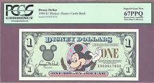 1996 $1 A Disney Dollars MICKEY: DISNEY CASTLE BACK PCGS 67 PPQ SUPERB GEM PIXIE