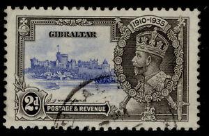GIBRALTAR GV SG114, 2d ultramarine & grey-black, FINE USED.