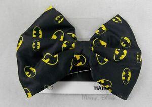 New DC Comics Batman Ribbon Bow Tie Clip-On Barrette Hair Pin Costume Dress Up