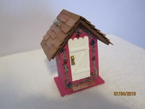 SCRATCH BUILT, HAND PAINTED FAIRY GARDEN FAIRY HOUSE OR FAIRY DIORAMA