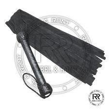 Handmade leather whip Flogger black- whip 24 Tails 28.5'' Long