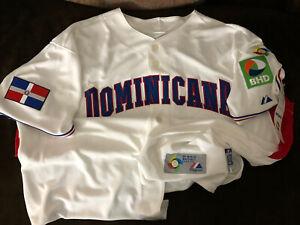 2009 World Baseball Classic WBC Dominican Republic Jersey Cool Base Sz 52