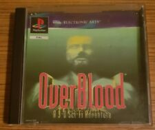 Playstation one game, OVERBLOOD, A 3D SCI-FI ADVENTURE, complete, ps1