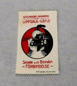 Sweden Poster Stamp - STOCKHOLM DALARNA UPPSALA GAFLE - Forbindelse - Train