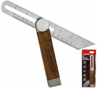 Dekton Sliding Bevel Square Hardwood Adjustable Sliding Bevel Gauge Angle finder