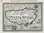Terceira island Azores Atlantic Ocean mapa map Karte carte Bertius Hondius 1618