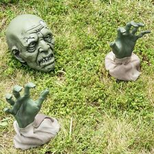 Zombie Halloween Decorations Animated Zombie Face Spooky Graveyard Outdoor