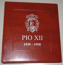 PIO XII (1939-58) raccoglitore ALBUM per MONETE del VATICANO PIO XII masterphil