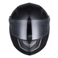 Full Face Motorcycle Helmet DOT Approved Flip Up Visor Racing Touring AHR K12 XL