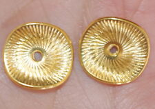 VINTAGE GORGEOUS DIAMOND CUT GOLD FILLED JACKETS FOR EARRINGS USE W ANY STUDS
