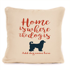 More details for gift for dog afghan hound personalised dog cushion present for owner