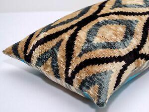 Amazing Silk Velvet ikat pillow cover ikat Throw Pillow Lumbar ikat interior