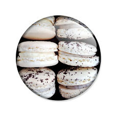 Badge MACARONS BLANCS Macaron gourmandise french cookie gourmand pop pins Ø25mm