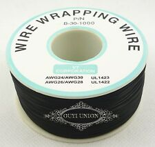 Black 305M 30AWG Electrical Wire OK Line Airline 0.5mm Single Core Copper Wire