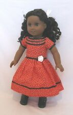 """Doll Clothes 18"""" Doll Dress Red Black  Fits American Girl Doll Cecile 1853 Era"""