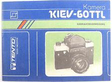 MANUAL Instruction Russian Camera KIEV 60 TTL ORIGINAL German language