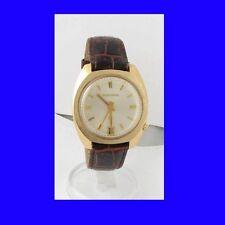 Mint 10k Gold Retro Bulova Accutron Tuning Fork Date Watch 1973