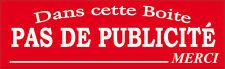 """PLAQUE BOITE AUX LETTRES """"PAS DE PUBLICITE """" STOP PUB EN RESINE 10X3 CM N°19"""