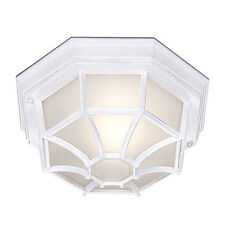 Searchlight 2942wh Aluminium White Hexagonal Outdoor/Porch Ceiling Light IP54